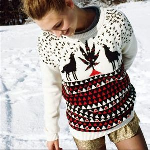 BDG | Animal Games Holiday Wolf Howling Sweater